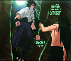 Naruto 661 - Madara Stabs Sasuke! by MarHutchy