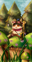Captain Teemo.. off duty! by serajaa