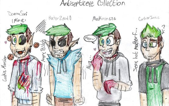 A handful of Antisepticeyes by DevennaSori
