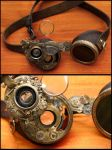 Steampunk goggles by SteamMouss