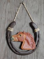 Chestnut horse wall hanging by Ethereal-Beings