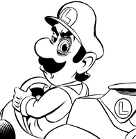 Luigi death glare by mistermuck