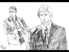 Sam and Dean Winchester by semie