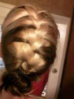 french braid bun combo by wittlecabbage
