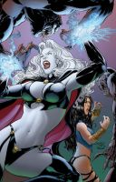 Lady Death vs Pandora cover 1 by danielhdr
