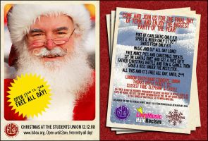 LSBUSU Xmas Flyer Pt.2 by illiteratekniferack