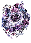 floral cat skull by creepyfish