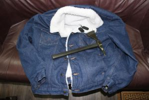 Dallas's Dog Tags, Tomahawk and Jacket by sabresteen