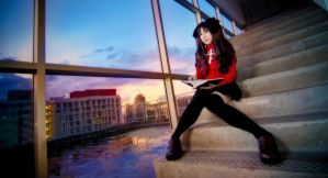 FATE/Stay Night, Rin Tohsaka by fritzfusion