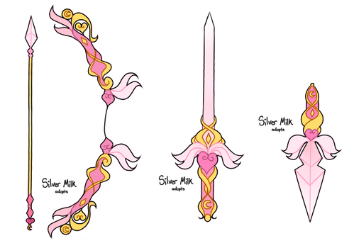 [Open] Weapon Adopt #1 #2 #3 by silvermilkadopts