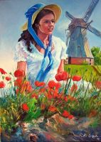Girl and windmill by Dreamnr9