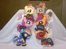 Silly Filly Halloween / Nightmare Night Ponies by Perler-Pony