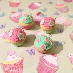Pink and Green Flower Cupcakes by FaeElixir