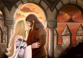 Eowyn and Faramir by ernestlovera