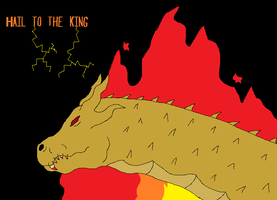 King Ghidorah Hail to the King by GarchompKing1216