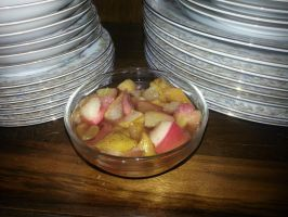 Poached pears and apple fruit pots by MadameThibodeau