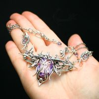 LIVEERTUX AGRAHT silver and purple zirconia by LUNARIEEN