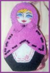 Matryoshka brooch by LaraInPink