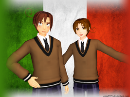 [MMD] Italy brothers by asha1095