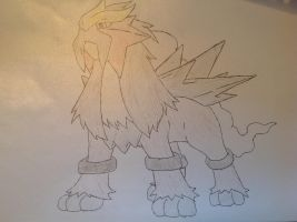 Pokemon - Entei by dewildbunbun
