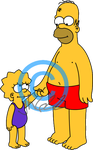 Lisa n Homer by jh622