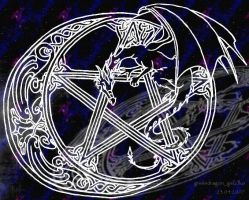dragon pentacle by greendragon-gecko