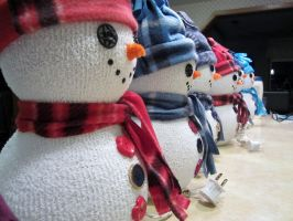 Snow Men Crafts by MyThoughtsAreDeep