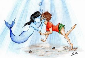 Kiss under the sea by ArisaMinase