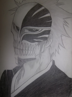 Hollowfied Ichigo by Wakawaka21