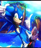 Sonic Boom - Sonic the hedgehog by Omiza