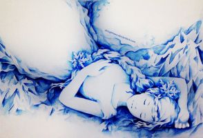 Ice, a Sleeping Water by ShiSeptiana