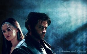 Wolverine and Rogue Wallpaper by kayccham