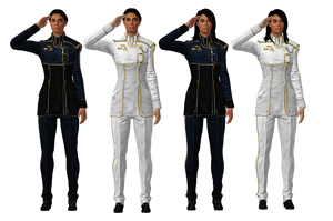 Ashley Williams Dress Blues/Whites [meshmods] by Just-Jasper