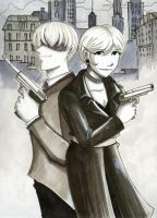Agents 271 and 340 by tifaria