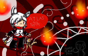 Atlas And Puppy by saltycuccumbers
