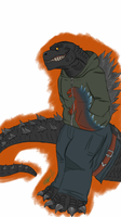 *Request* Anthro Godzilla by createandshow0407