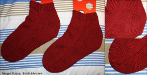 12 months of Knitting 1 - Comfy Socks by yarngirl