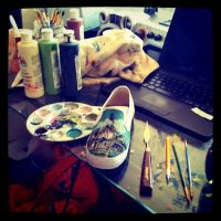Pierce The Veil Shoes by MonteyRoo