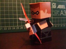 Red Arrow Paper Toy by papertoyadventures