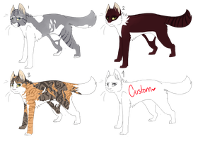 Cat Adoptables :. [OPEN] by DeliriousPup
