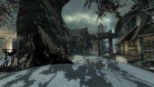 Winter has arrived in Skyrim by Conn1321