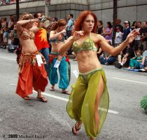 Belly Dancers in the Parade 1 by Insane-Pencil