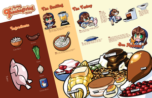 Thanksgiving cooking poster by rongs1234