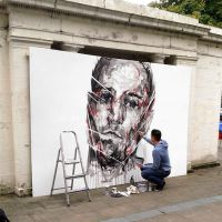 Live Painting - Southport United Kingdom by ART-BY-DOC