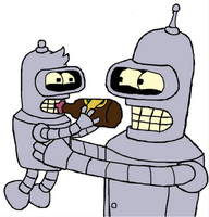 Bender and Rodney by Futuramanerd