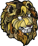 Stained Glass Lion by DragonFireArt