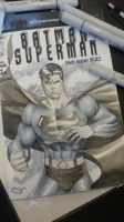 Superman sketch cover commission 4 Tampa Comicon by Sajad126