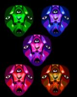 Many Masks. by DominiqueSnazzy