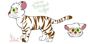 White Bengal Tiger by MimiTheFox