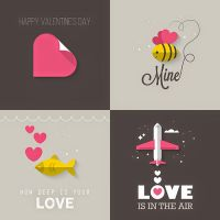 Valentine's Day Greeting Cards by dryopus